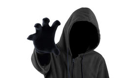 Scary thief try to grab something Royalty Free Stock Image