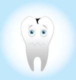 Scary tooth. For your design Royalty Free Stock Photos