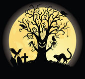 Scary tree. vector illustration