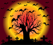 Scary tree. Illustration with a scary tree Royalty Free Stock Photo