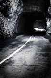 Scary tunnel stock image