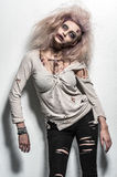 Scary undead zombie girl. A scary undead zombie girl Royalty Free Stock Image