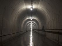 Scary Utility Tunnel Stock Photography