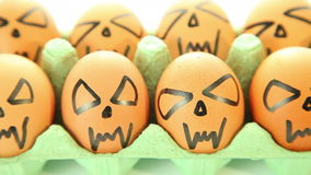 Scary vampire crazy eggs Royalty Free Stock Image