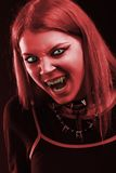 Scary vampire girl Stock Photography