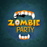 Scary vampire teeth for Halloween Zombie Party. Royalty Free Stock Images