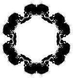 Scary vector snowflake made by blobs and splatters Royalty Free Stock Images