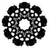 Scary vector snowflake made by blobs and splatters Stock Photos