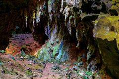Chamber two view of callao cave, cagayan philippines royalty free stock photography
