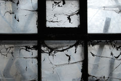 Scary window. Light coming throught a scary window Royalty Free Stock Photo