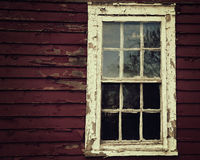 Scary Window on Old Wooden House Royalty Free Stock Photo