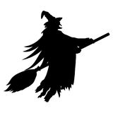 Scary witch flying Royalty Free Stock Images