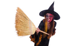 The scary witch in halloween concept Royalty Free Stock Photography