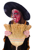The scary witch in halloween concept Stock Images