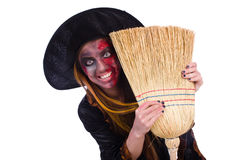 The scary witch in halloween concept Stock Image