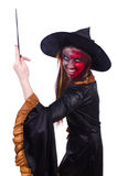 The scary witch in halloween concept Stock Photos