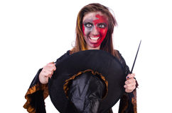The scary witch in halloween concept Royalty Free Stock Photos