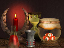 Scary witch laboratory Royalty Free Stock Photography