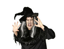 Scary Woman Witch. Making Mean Expression royalty free stock images