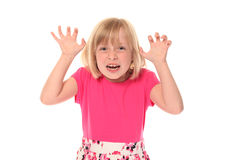 Scary young little girl Royalty Free Stock Photo
