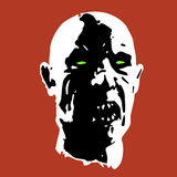 Scary zombie face. Vector illustration Royalty Free Stock Photos