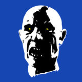Scary zombie face vector illustration Stock Photography