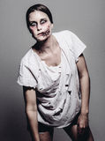 A scary zombie girl Royalty Free Stock Image