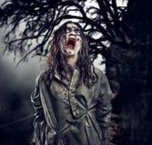 Scary zombie. Halloween. stock photography