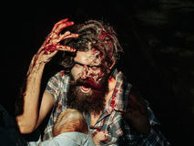 Scary zombie man Stock Images
