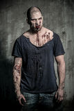 A scary zombie man Royalty Free Stock Photo