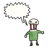 Scary zombie man cartoon Royalty Free Stock Photo