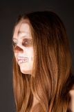 Scary zombie woman Stock Images