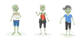 Scary zombies set. Stock Photos