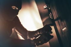 Scassinatore caucasico della Camera Fotografia Stock