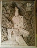 Scatch di Ostrog del monastero immagine stock libera da diritti