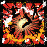 Scateboard graphic. A illustration of skate boarding background design Royalty Free Stock Images