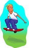 Scateboarder boy Stock Image