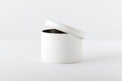Scatola bianca su bianco Fotografia Stock