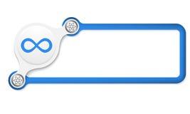 Scatola blu illustrazione di stock