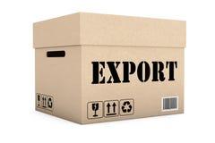 Scatola con il segno dell'esportazione Fotografia Stock Libera da Diritti