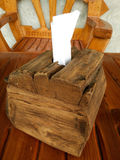 Scatola d'annata di legno del tessuto fotografie stock libere da diritti