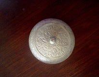 Scatola d'argento rotonda Immagini Stock Libere da Diritti