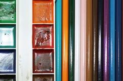 Scatola degli acquerelli Fotografia Stock Libera da Diritti
