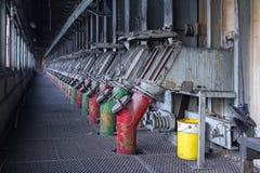 Scatola del gas di combustione in canale di distribuzione del gas sulla batteria del coke Fotografia Stock Libera da Diritti
