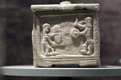 Scatola del guerriero dalla necropoli di Piquia, Arjona, Jaen Fotografia Stock
