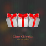 Scatola del presente del regalo di Natale Fotografie Stock Libere da Diritti