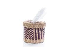 Scatola del tessuto fatta di bambù Fotografia Stock Libera da Diritti