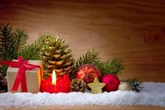 Scatola della candela e di regalo di arrivo Fotografie Stock