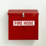 Scatola della manichetta antincendio Fotografie Stock Libere da Diritti