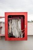 Scatola della manichetta antincendio Fotografia Stock Libera da Diritti